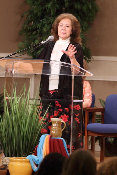 Rita Brashear sharing her testimony.