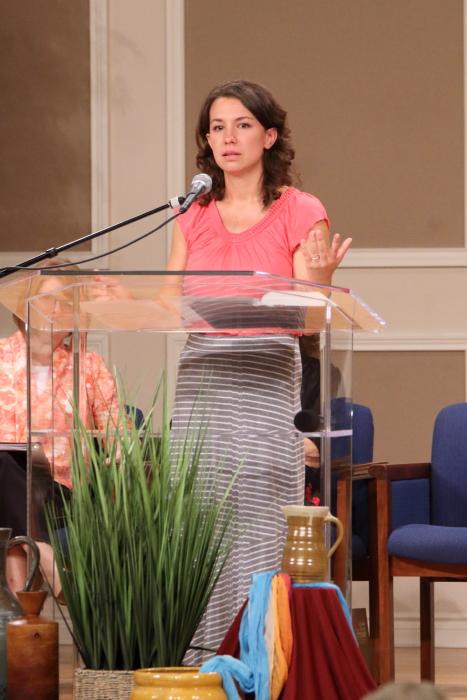 Sara Reichert shares her testimony.